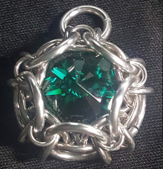 Emerald Phaedra Pendant - 14mm